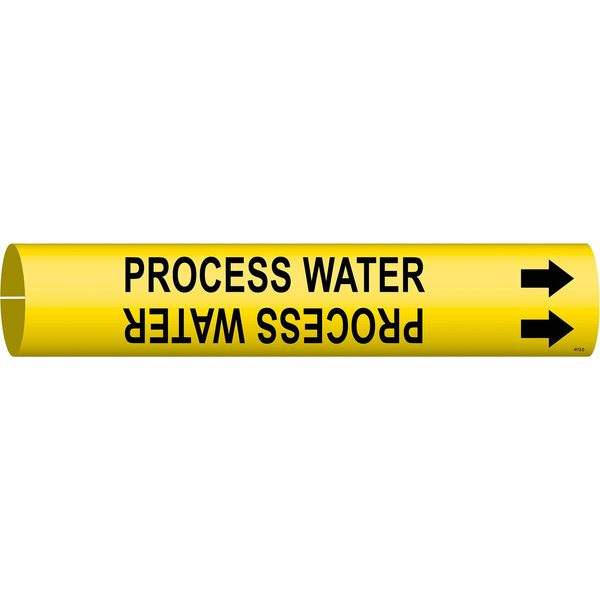 Brady Pipe Marker, Process Water, Yel, 4 to 6 In 4112-D