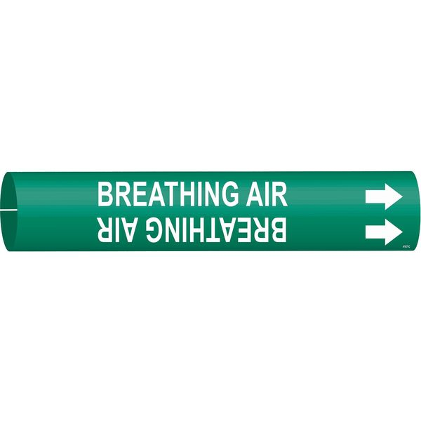 Brady Pipe Mrkr, Breathing Air, 2-1/2to3-7/8 In 4167-C