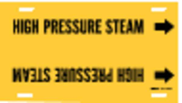 Brady Pipe Mrkr, High Pressure Steam, 6to7-7/8In 4077-F