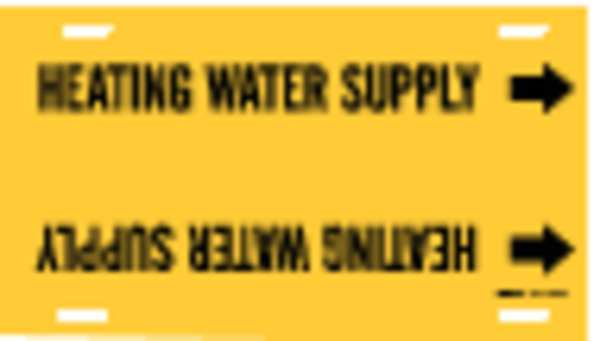 Brady Pipe Mrkr, Heating Water Supply, 10to15 In 4073-H