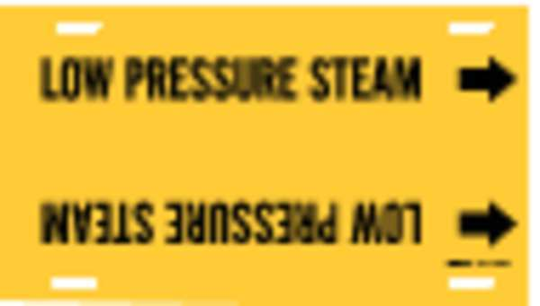 Brady Pipe Mrkr, Low Pressure Steam, 8to9-7/8 In 4092-G