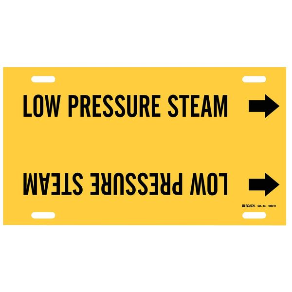 Brady Pipe Marker, Low Pressure Steam, 10to15 In 4092-H