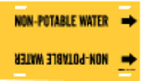 Brady Pipe Markr, Non-Potable Water, 8to9-7/8 In 4102-G