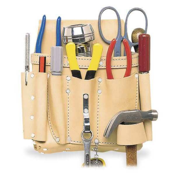 Clc Electricians Tool Pouch w/ Hammer Loop,  Leather 521