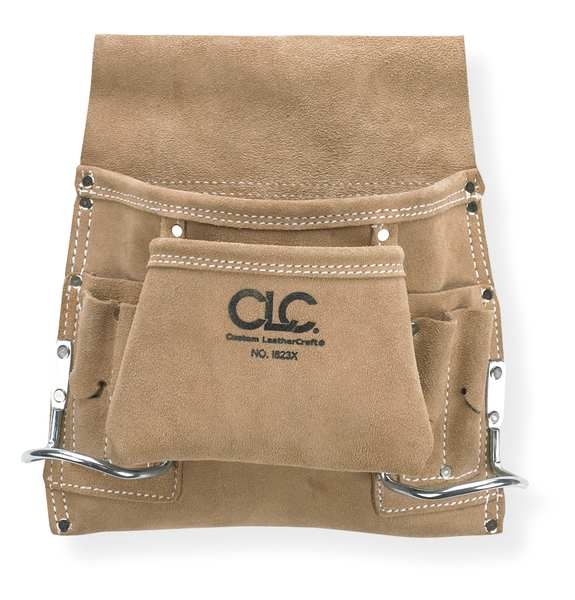 Clc Nail and Tool Pouch w/ 2 Hammer Loops,  Leather I823X
