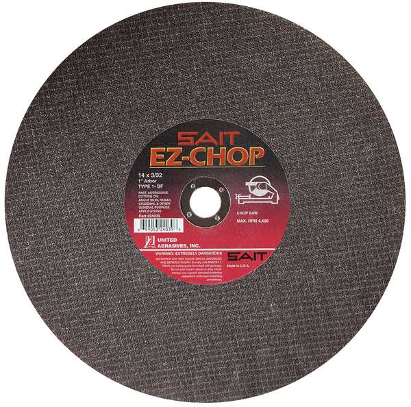 "United Abrasives-Sait CutOff Wheel, EZ-CHOP, 14""x3/32""x1"" 24039"
