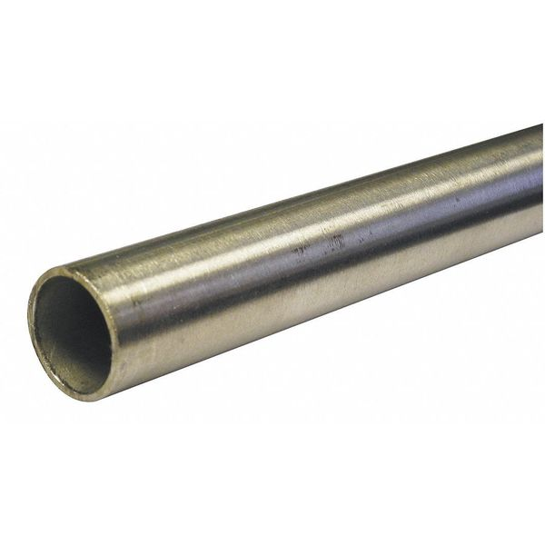 """Zoro Select 1-1/2"""" OD x 6 ft. Welded 316 Stainless Steel Tubing 5LVP7"""