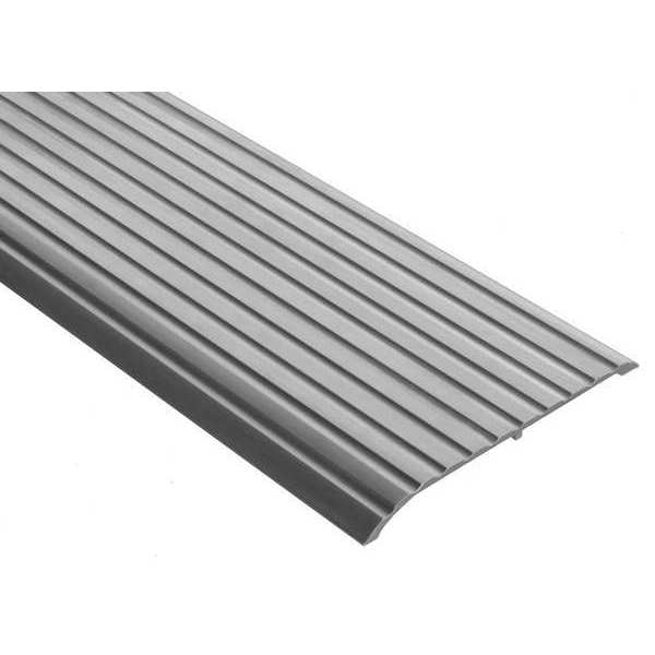 National Guard Threshold, Fluted Top, 6 ft., Aluminum Mill 653-72