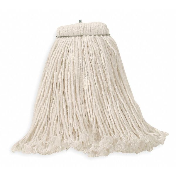 Rubbermaid Dura Pro 4-Ply Cotton/Rayon/Synthetic Blend Yarn Wet Mop,  White FGF46800WH00