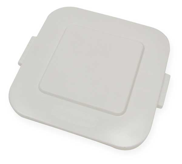 Rubbermaid Trash Can Top, Flat, Snap-On Closure, White FG352700WHT