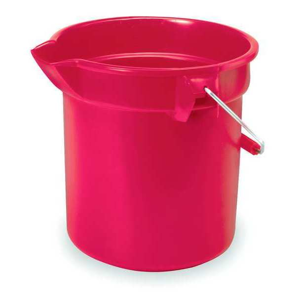 Rubbermaid Brute Bucket, 2-1/2 gal., Red FG296300RED