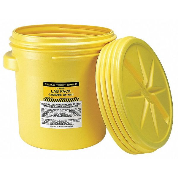 Eagle Salvage Drum, Open Head, 20 gal., Yellow 1650