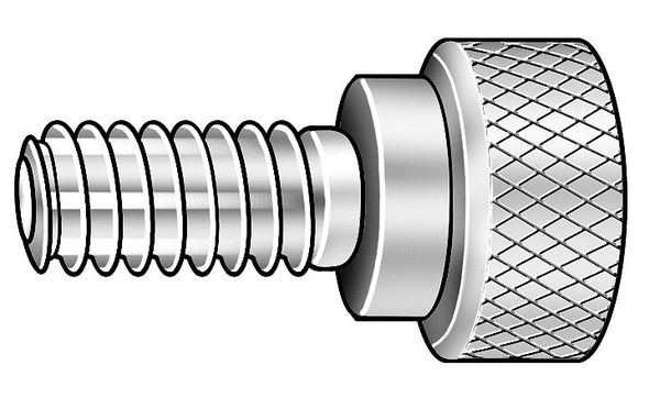 5//16 Length Plain Finish Made in US Knurled Head Pack of 5 Fully Threaded 303 Stainless Steel Thumb Screw #4-40 UNC Threads