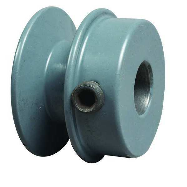 """Tb Wood'S 1/2"""" Fixed Bore 1 Groove Standard V-Belt Pulley 2.05 in OD AK2012"""