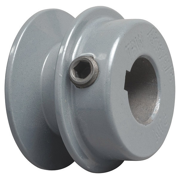 """Tb Wood'S 5/8"""" Fixed Bore 1 Groove Standard V-Belt Pulley 2.05 in OD AK2058"""