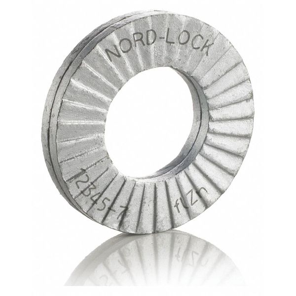 "Nord-Lock 1 1/4"" x 2.300"" OD Steel Delta Protect Finish Lock Washers,  25 pk. 2742"