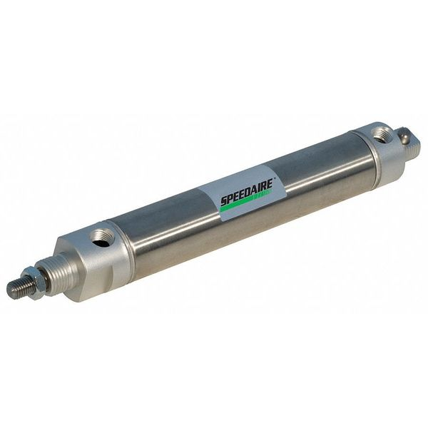 "Speedaire 7/8"" Bore Round Double Acting Air Cylinder 6"" Stroke NCDMC088-0600"