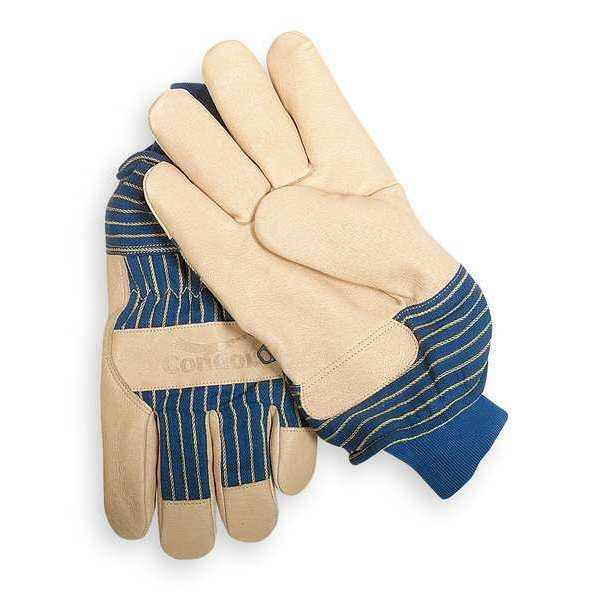 Condor Leather Gloves, Grained Pigskin, L, PR 5T926