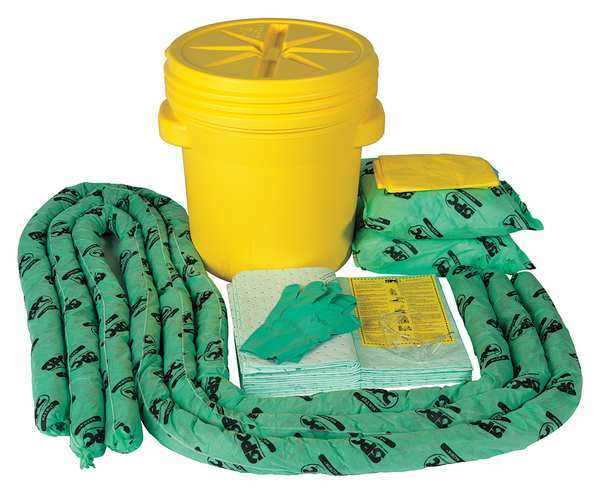 Brady Spc Absorbents Spill Kit,  Chem/Hazmat,  Yellow SKH-20
