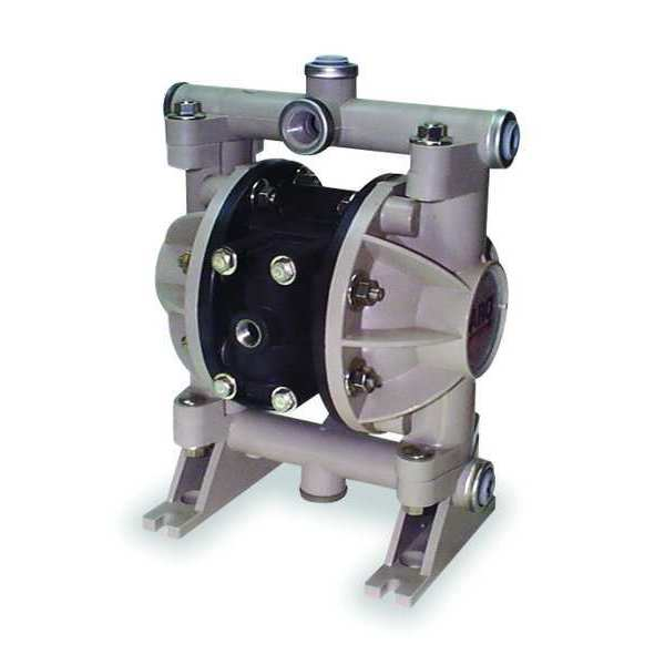 Aro Double Diaphragm Pump,  Polypropylene,  Air Operated,  Urethane,  13 GPM 66605J-388