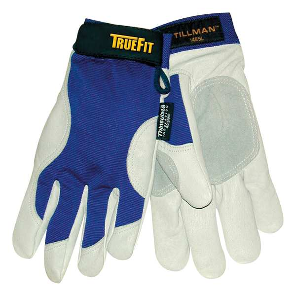Tillman Large Blue Elastic Cuff Cold Protection Gloves 1485L