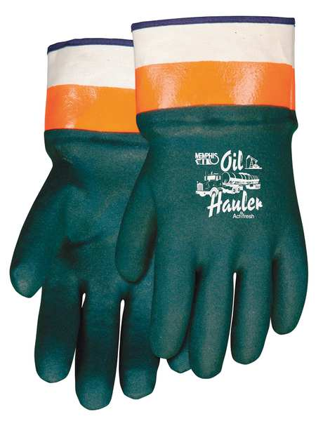 Mcr Safety Chemical Resistant Glove, PVC, Sz L, PR 6410SC