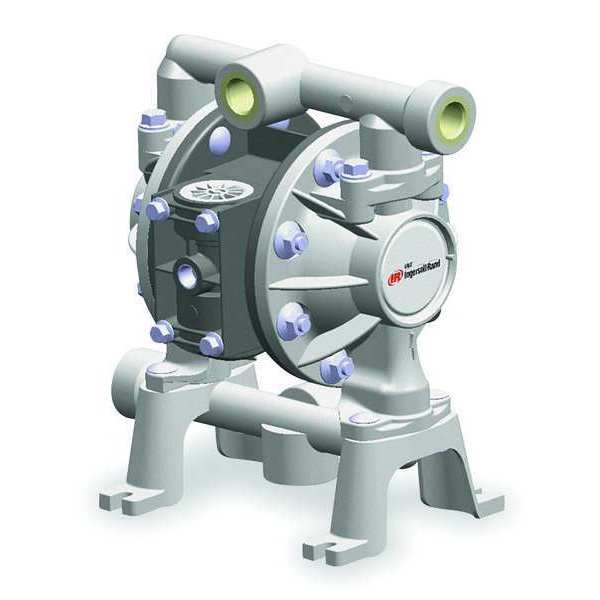 Aro Double Diaphragm Pump,  Polypropylene,  Air Operated,  Santoprene,  14 GPM PD05P-ARS-PAA-B