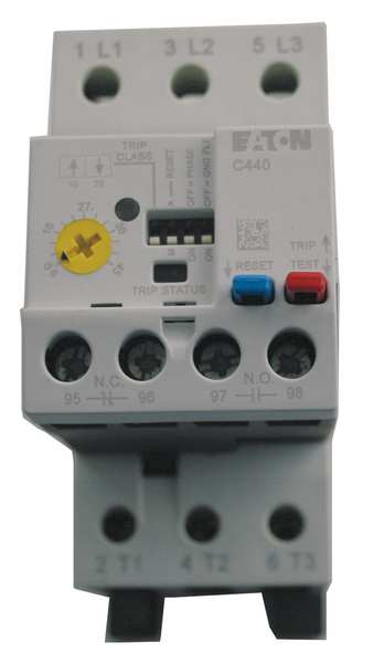 Eaton Overload Relay, 1 to 5A, Class 10/20/30, 3P XTOE005CCSS