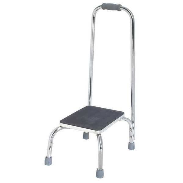 Zoro Select 34 1/2 in Length,  Steel Tube,  Bath Step Stool,  Chrome plated 5XTD1