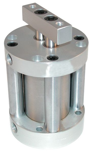 "Speedaire 3/4"" Bore Compact Double Acting Air Cylinder 1/4"" Stroke 5YDA6"