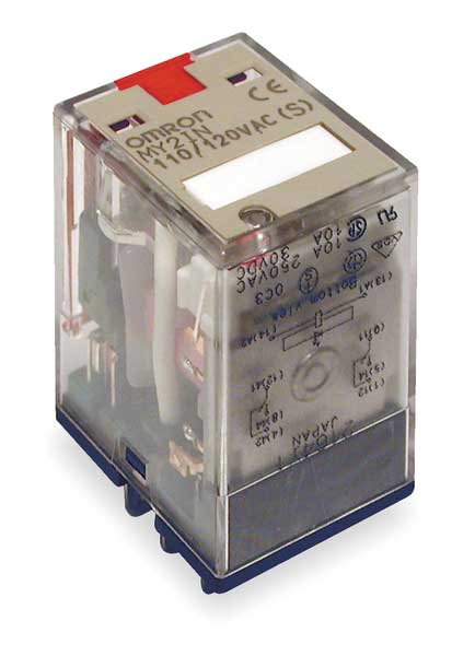 Omron General Purpose Relay,  24V DC Coil Volts,  Square,  8 Pin,  DPDT MY2IN-DC24(S)