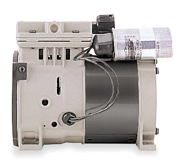 Thomas Piston Air Compressor/Vacuum Pump,  1/3HP,  Hz: 60 688CE44