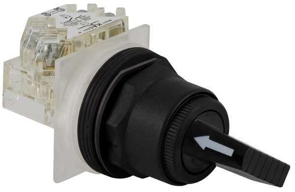 Schneider Electric Non-Illum Selector Switch, Momentary, 30mm 9001SKS63FBH1