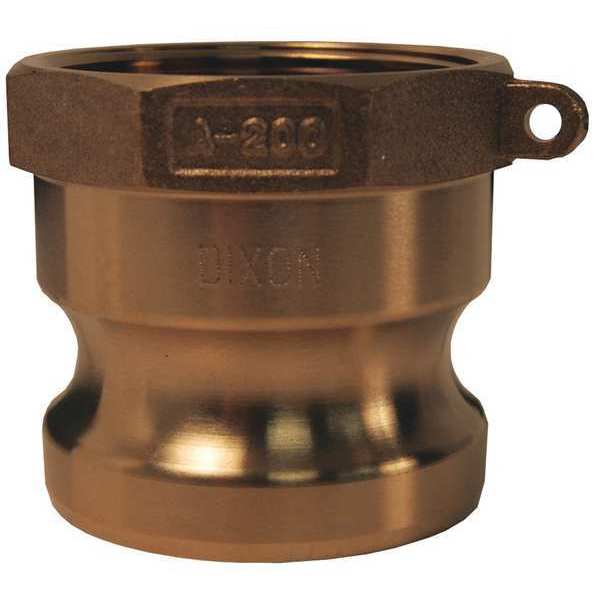 Dixon Valve & Coupling Adapter, 4 In, 100 psi, Male Adapter x FNPT G400-A-BR