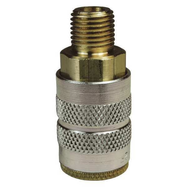 Dixon Male to Industrial Coupler, 1/4, Brass 2FM2-B
