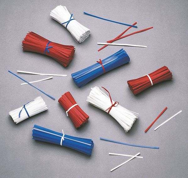 """Zoro Select 5"""" Wire In Paper Twist Ties,  Pk10000 5CRN6"""