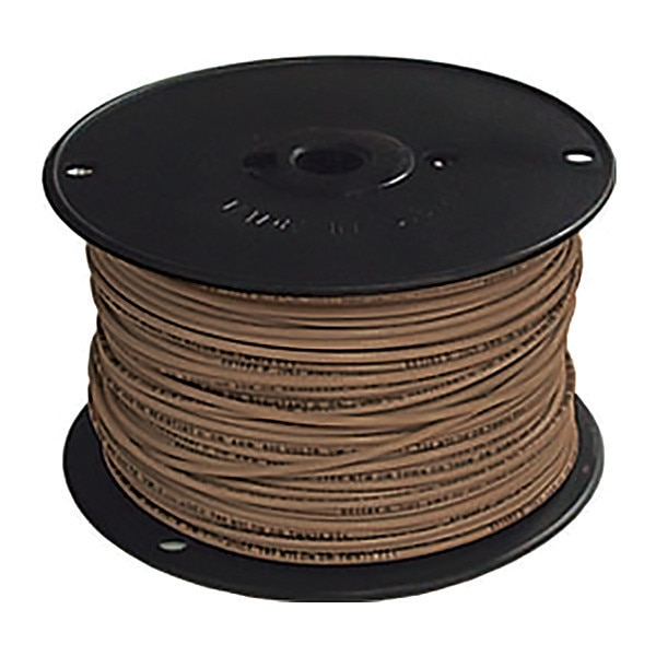 Southwire Building Wire, THHN, 14 AWG, Brown, 500ft 11586501
