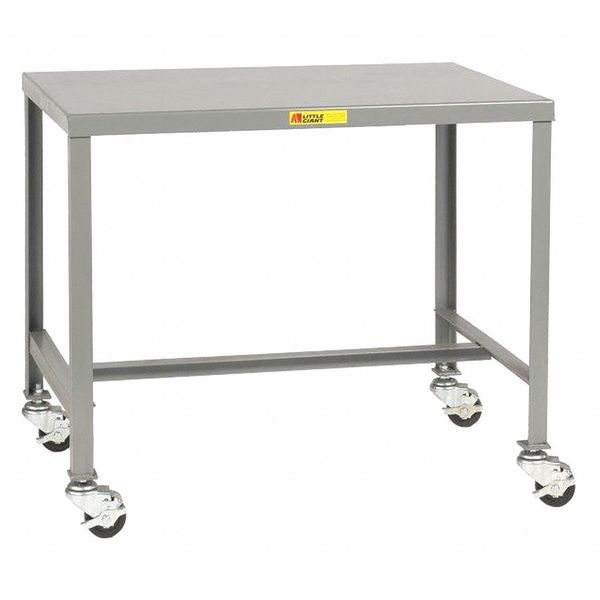 """Little Giant Machine Table, Steel, Mobile, 24 x 48 x 18"""" MT1-2448-18-3R"""