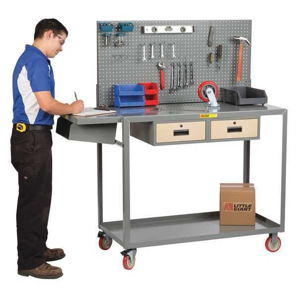 "Little Giant Mobile Workstation, Work Height, 24 x 36"" QC2436-TL2DRPB"