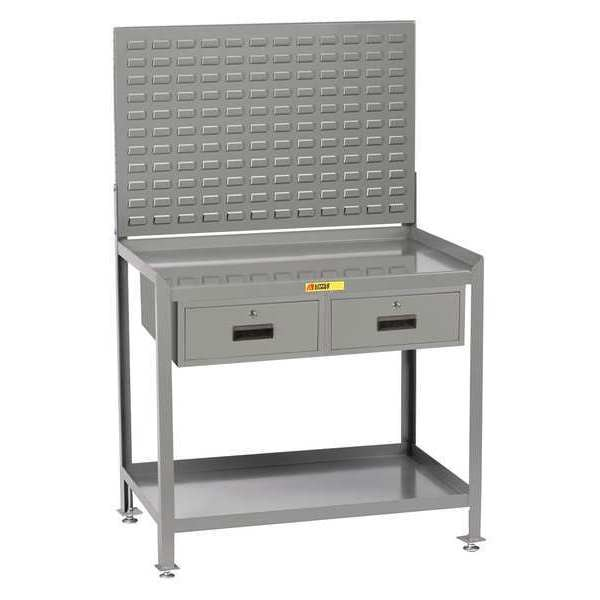 """Little Giant Workstation, 2-Drawer, Louvered, 24 x 48"""" SW-2448-LLLP2DR"""