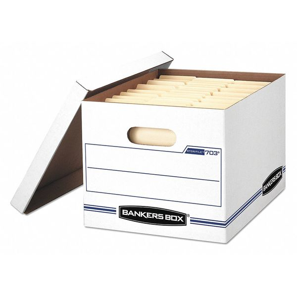 Bankers Box Storage File Box, Letter/Legal, White, PK4 0070308