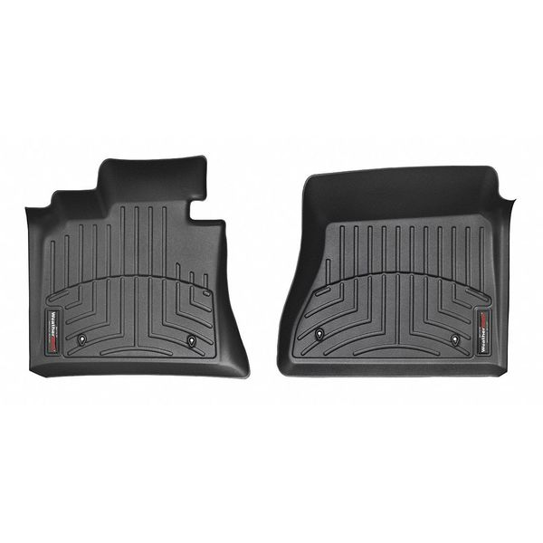 445011 WeatherTech FloorLiner Front Black