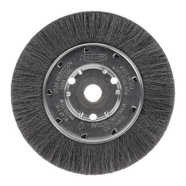 "Osborn Crimped Wire Narrow Face Wheel Brush, 12"" 0002104400"