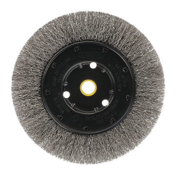 "Osborn Crimped Wire Narrow Face Wheel Brush, 8"" 0002101100"