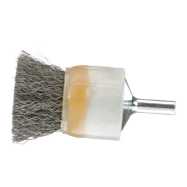 """Osborn Crimped Wire Coated End Brush, 1"""" 0003012800"""