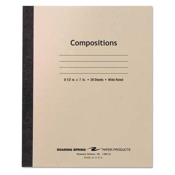 Roaring Spring Composition Book, 20Sht, Wide, Manila Cover 77340