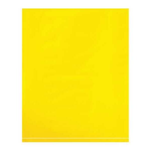 "Partners Brand 12"" x 15"" Flat Poly Bags,  2 mil,  Yellow,  PK 1000 PB534Y"