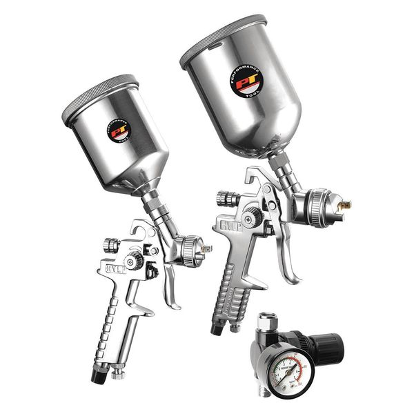Performance Tool HVLP Spray Gun Kit, 2Pc M503