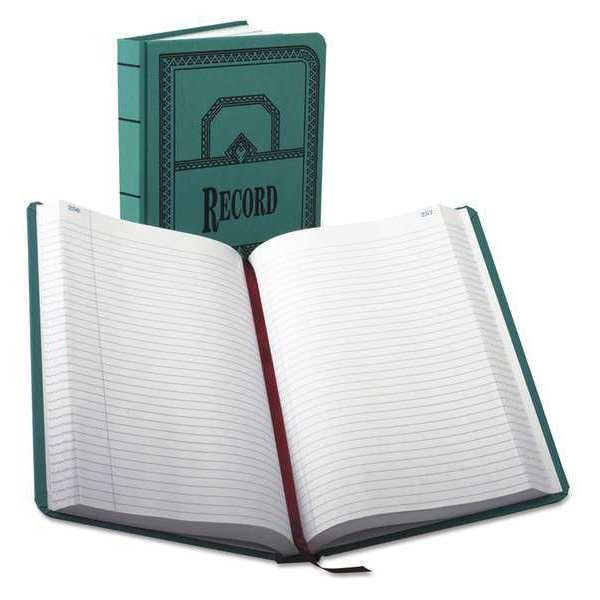 "Boorum & Pease Record Rule Book,  12-1/8"" x 7-5/8"",  500 Pg 66-500-R"