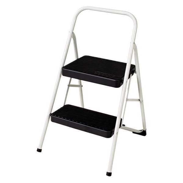 Cosco 2 Steps,   Folding Step Stool,  200 lb. Load Capacity,  Gray 11-135CLGG1